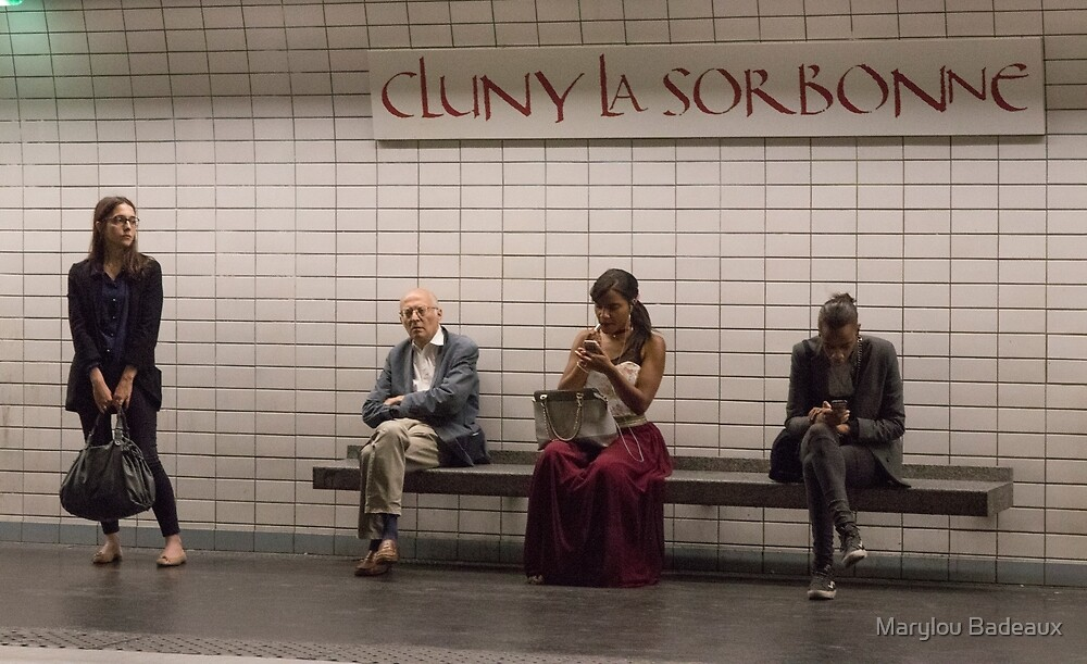 Waiting for the Metro by Marylou Badeaux