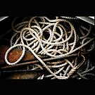 Vintage Boat Rope with Anchor by Daniel  Oyvetsky