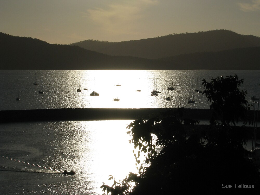 """""""The Breakwater"""" Whitsundays, Airlie Beach. by Sue  Fellows"""