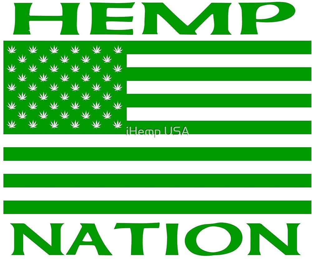 Hemp Nation Flag with Hemp leaf stars by thegreatbilby