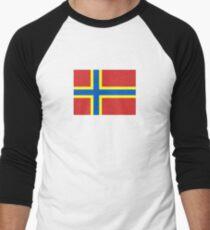 Flag of Orkney Baseball ¾ Sleeve T-Shirt