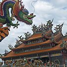 Dragon and Temple by Digby