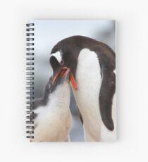 """Gentoo Penguin and Chick ~ """"Meals Home Delivered"""" Spiral Notebook"""