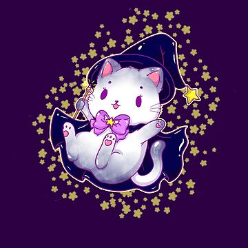 Witch Cat - Magical Kitty by ateliershoshi