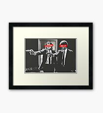 Jules and Vincent Pulp Fiction Bar Logos Framed Print