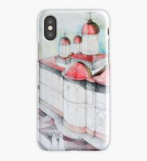 Perspective drawing illustration of a Christian church iPhone Case/Skin