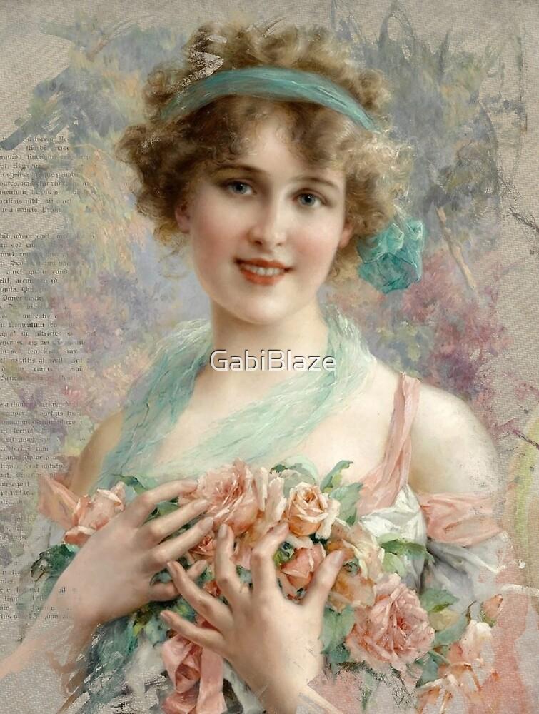 Vintage Young Lady Portrait by GabiBlaze