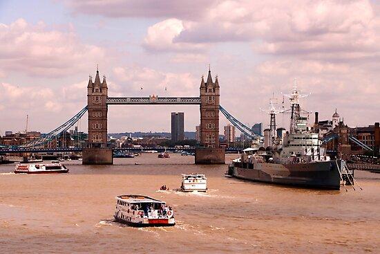 River Thames London by John Wallace