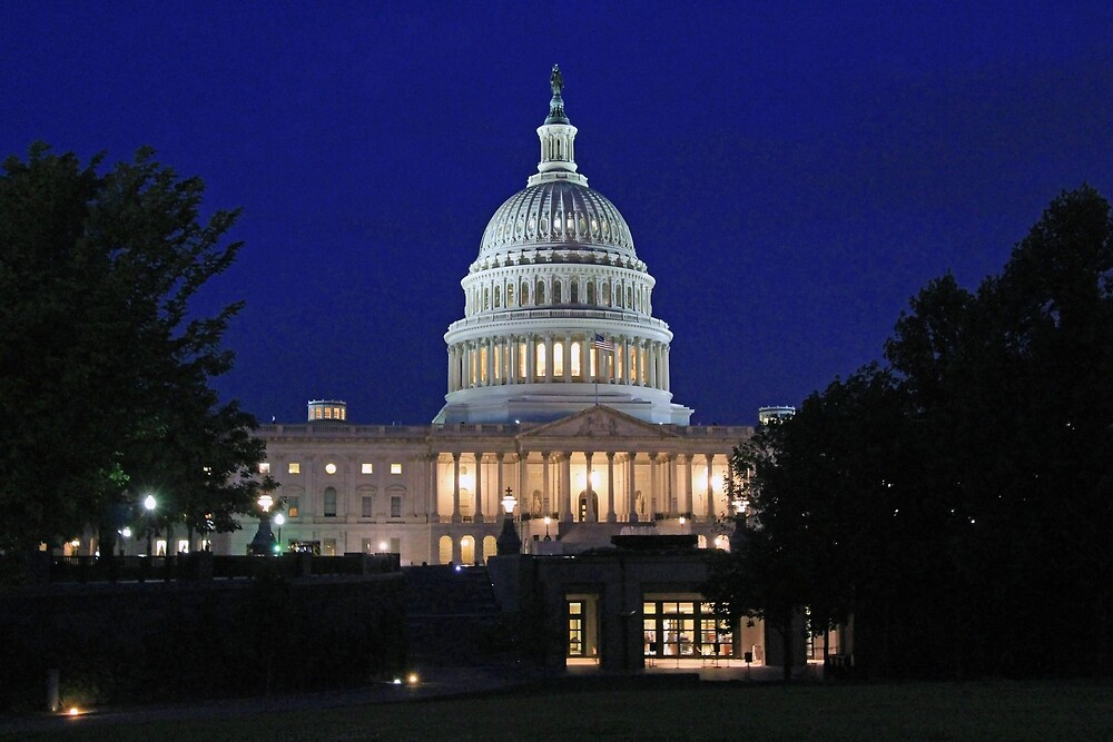 Early Dawn At The United States Capitol by Cora Wandel