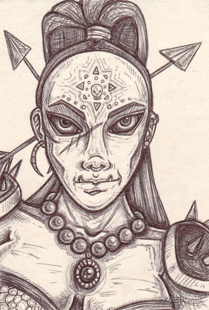 Meet Grog - Orc Warrioress by Kristin Lewis
