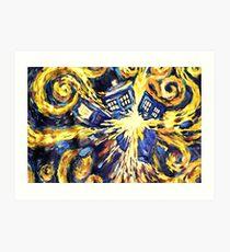 Exploding TARDIS Painting by Van Gogh Art Print