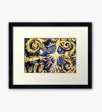 Exploding TARDIS Painting by Van Gogh Framed Print
