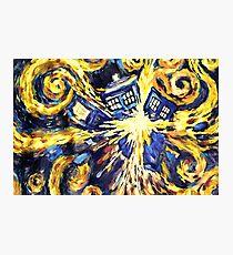 Exploding TARDIS Painting by Van Gogh Photographic Print