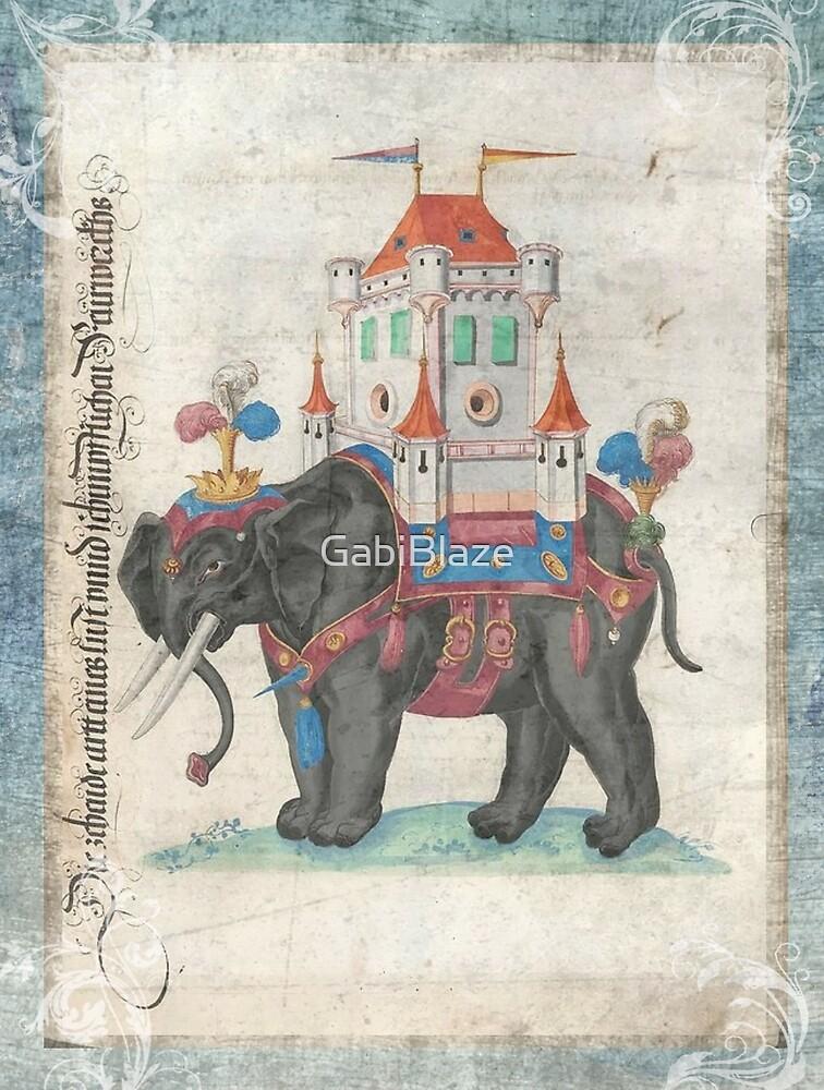 Vintage Elephant Circus by GabiBlaze