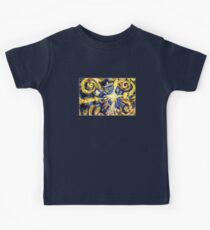 Exploding TARDIS Painting by Van Gogh Kids Clothes