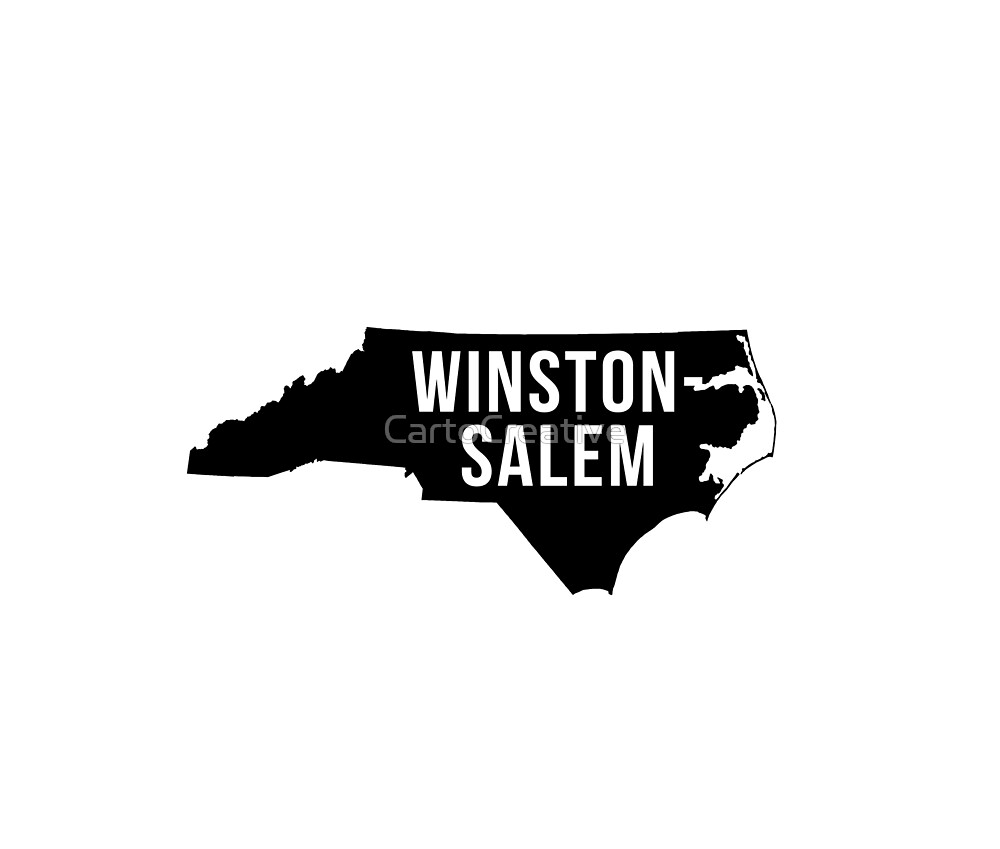 Winston-Salem, North Carolina Silhouette by CartoCreative