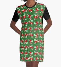 christmas candy canes Graphic T-Shirt Dress