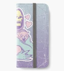 Skeletors Katze iPhone Flip-Case/Hülle/Skin