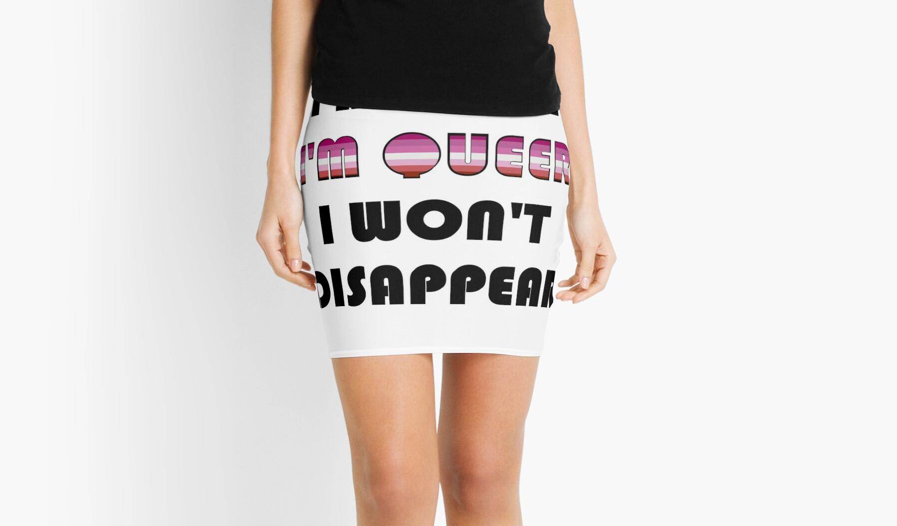 in sites Lesbians miniskirt