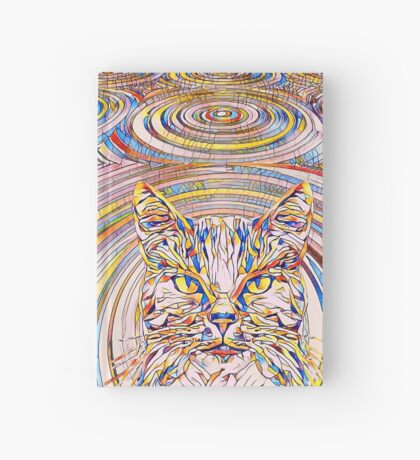 Abstract Cat Hardcover Journal
