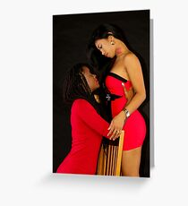 The Models Kierra and J-Rain Greeting Card