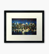 New York Skyline 2008 Framed Print