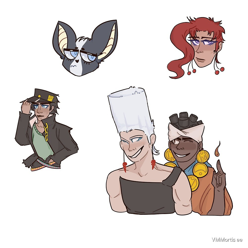 Stardust Crusaders Sticker Pack  by mothergod