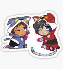 Chibi Voltron Onesie Sticker Klance / Lance + Keith Sticker