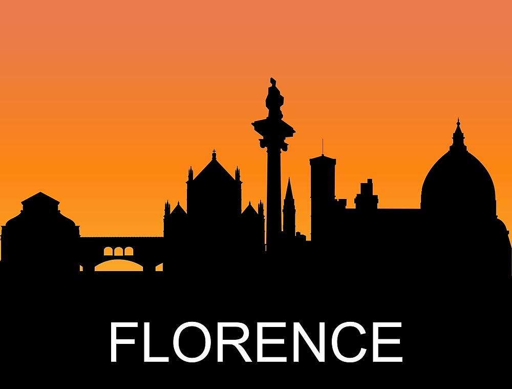 Florence, Italy, romantic sunset, travel sticker by AmorOmniaVincit