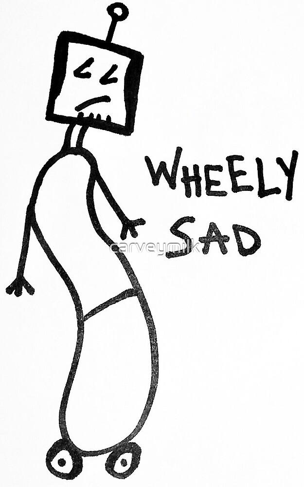 Wheely Sad Robot by carveymilk