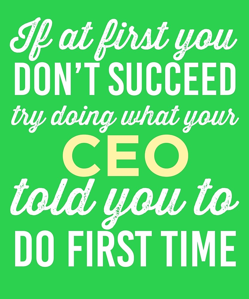 Do It Like CEO Told You by AlwaysAwesome