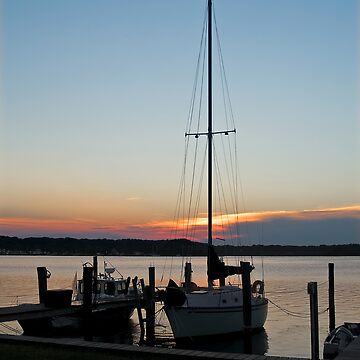 Sunset Sailboat by andykazie