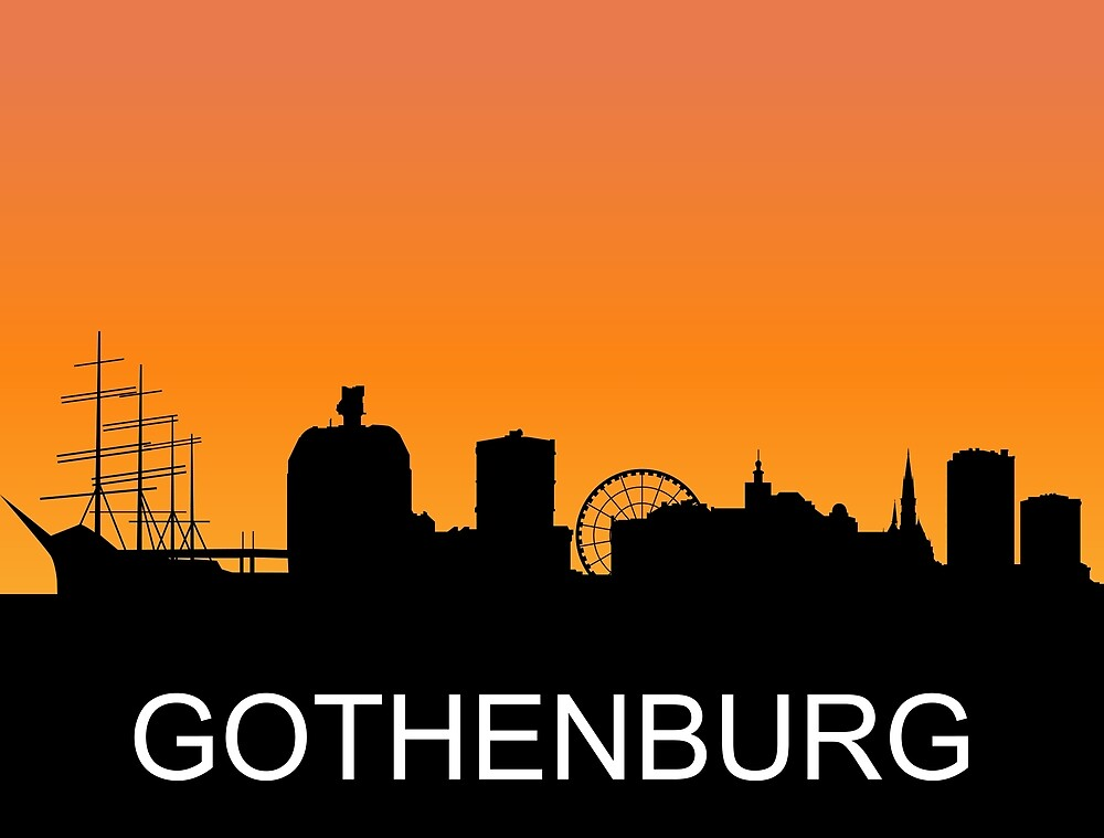 Gothenburg, Sweden, romantic sunset, travel sticker by AmorOmniaVincit