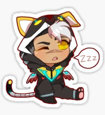 Voltron Chibi Onesie Sticker Kuro Shiro  Sticker