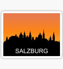 Salzburg, Austria, romantic sunset, travel sticker Sticker