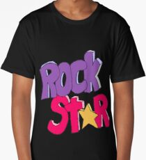 Rock Star - Typography Graphic Long T-Shirt
