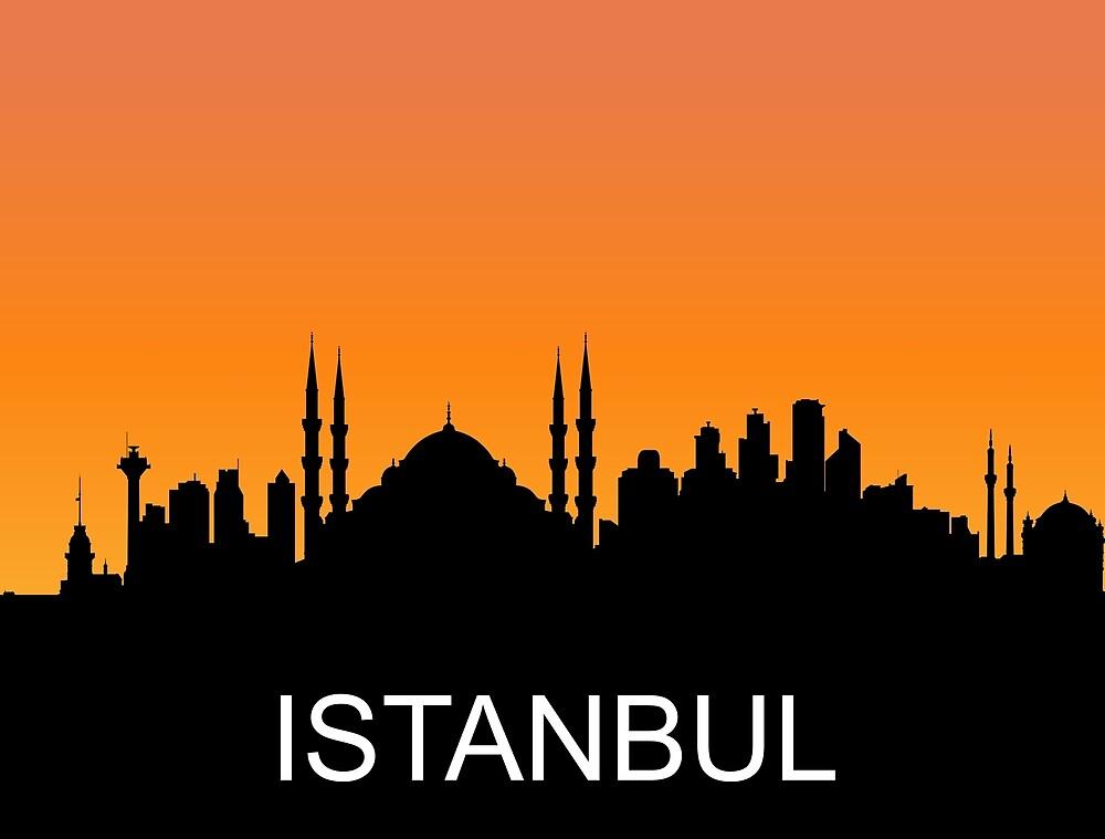 Istanbul, Turkey, romantic sunset, travel sticker by AmorOmniaVincit