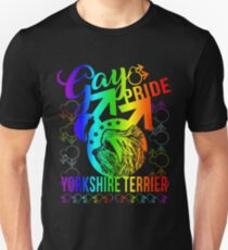 Gay Pride Yorkshire Terrier Shirt Unisex T-Shirt