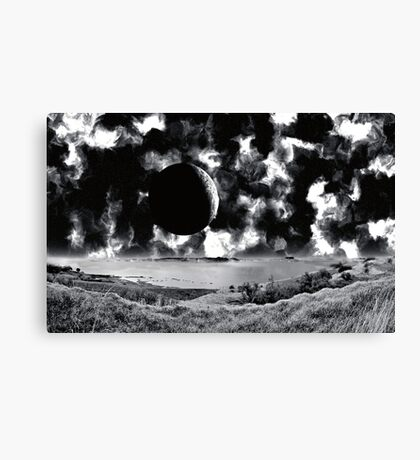 San Remo Moonscape - Collab. Ashley Ng/alienvisitor Canvas Print