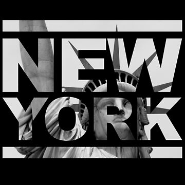 Typographical New York Statue Of Liberty Design by augenpulver
