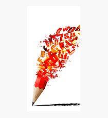Creative Pencil Arr Photographic Print