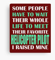 Helicopter Pilot Canvas Print
