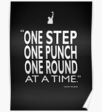 One Step One Punch One Round Poster