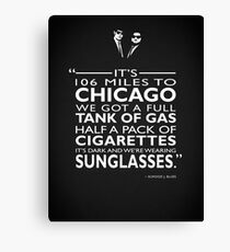 Seine 106 Meilen nach Chicago Leinwanddruck
