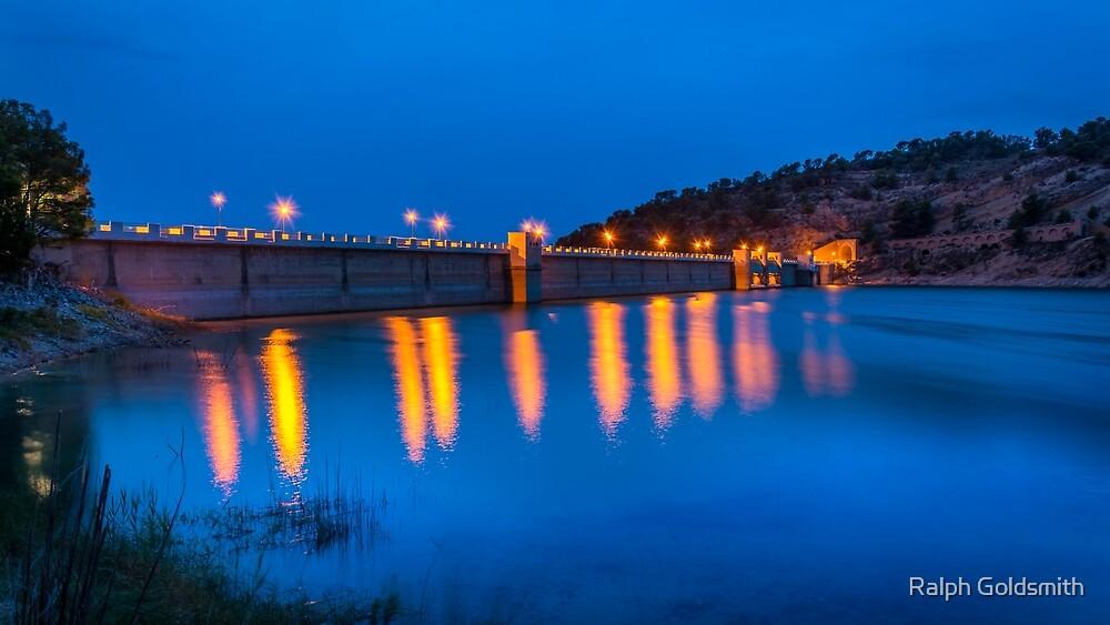 Blue Hour Amadorio Dam by Ralph Goldsmith