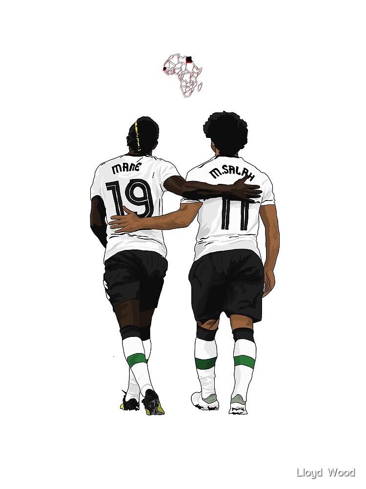 Mané and Salah by Lloyd  Wood