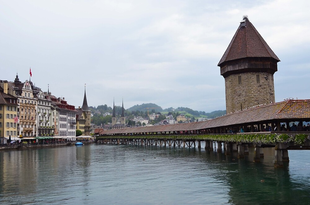 Lucerne Bridge by yashithakurani