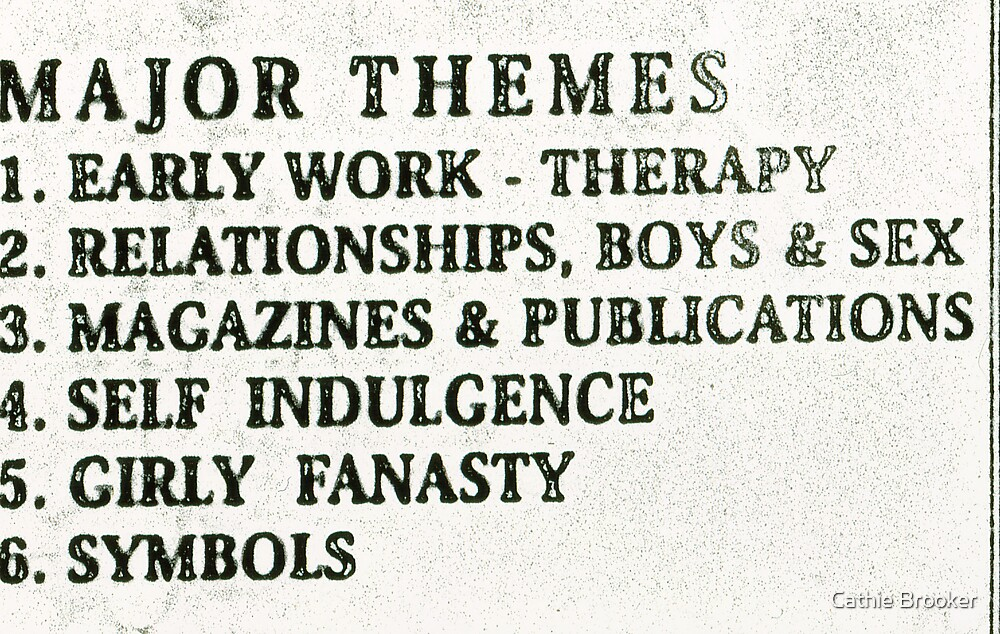 Cathie Brooker- Major Themes by Cathie Brooker