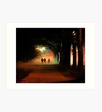 Night Fog in the City Art Print
