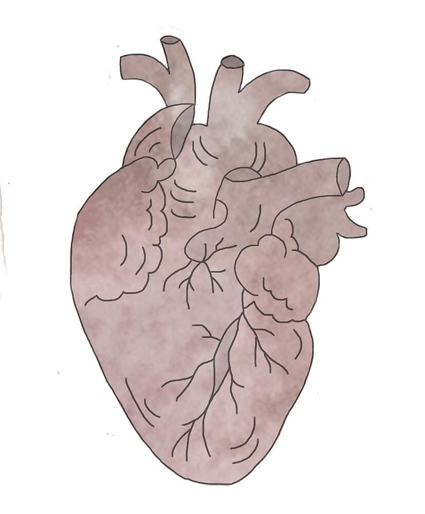 Watercolour Heart by emily  gaskin